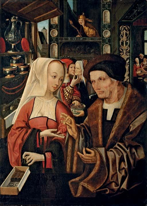 """""""The Ill-Matched Lovers"""" from the studio of Jacob Cornelisz van Oostsanen, late 15th century:"""