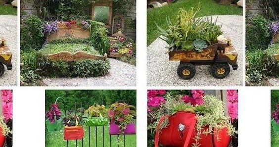 200 ideas para reciclar en el jard n y decorarlo con - Cosas para el jardin ...