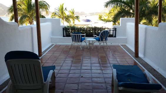 Our cozy terra cotta patio with stucco privacy walls in Cabo.  Coffee in the morning, margaritas for lunch and winding down with a little vino at dusk.