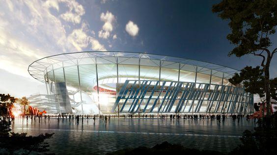 Woods Bagot divulga projeto de estádio para o AS Roma inspirado no Coliseu