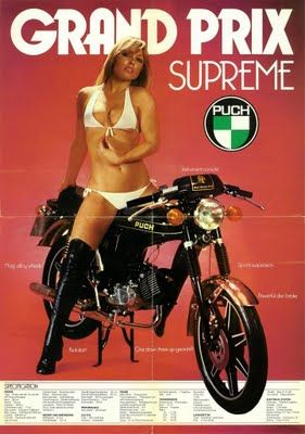 Puch Grand Prix Supreme Moped / Motorcycle Ad