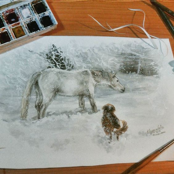 Winter's souls Comissions Time for @amaiiuur_mendiorooz   Watercolors and Pencils    Wanna see a portrait of your horse?  Use the hashtag #roxaoleenhorse in the best photo of him for a chance to be chose!!   #art_realistique #artoftheday #artcomplex #imagionation_art #arts_help #arts_mag  #arabianhorse #worldoftalents #roxaoleen #realistic_arts #cavallo #worldofpencils #raresart #photooftheday #art_helps #artworld_share #talentedpeopleinc  #artista #equestrian #cavalloarabo #watercolourart…
