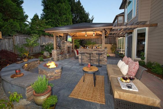 Staycation landscape design in camas washington by paradise restored landscaping exterior design in
