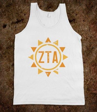 Zeta Tau Alpha Frat Tanks - Zeta Tau Alpha Sun Frat Tanks @Melissa Greenfield !!!!