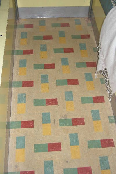 We cas and home on pinterest for Vintage linoleum flooring