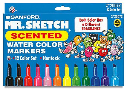 School Supplies of the 90s    SCENTED MARKERS! the high for kids! What best have all colors on you paper and take a big sniff.