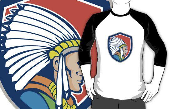 Native American Indian Chief Cartoon by patrimonio