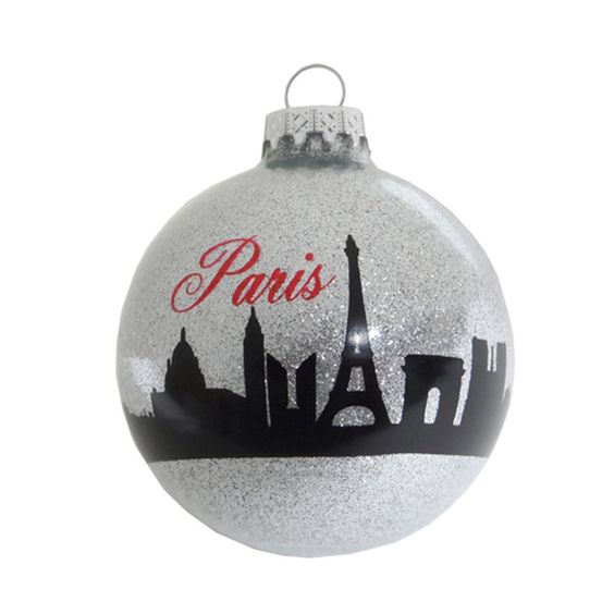 Christmas Paris Ornament Holiday France Eiffel Tower Ornament Christmas Tree Ornament