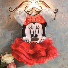 5 Colors! Minnie girl girls short sleeve summer T shirt Top + Skirt Set Sets Kids Baby Babies Xmas Christmas Suit 5 pcs/lot(China (Mainland))