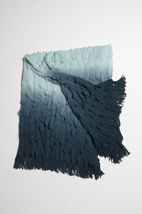 1) Who is a blanket hoarder? 2) Who loves ombre? 3) Who likes to curl up and watch Netflix?  If all three of these questions apply to you.  Then what's one more blanket gonna hurt?  Especially when it's this fun. Ombre Flutter Throw - Anthropologie.com #Anthropologie #PinToWin