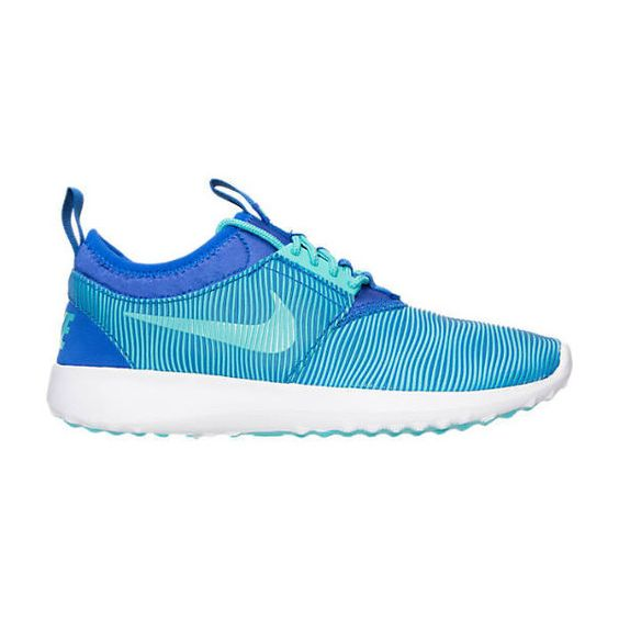 New Blinged Blue Nike Juvenate Sm Casual Women's W Swarovski Crystals ($159) ❤ liked on Polyvore featuring shoes, light blue, sneakers & athletic shoes, women's shoes, blue sparkle shoes, swarovski crystal shoes, sparkly shoes, clear shoes and blue shoes