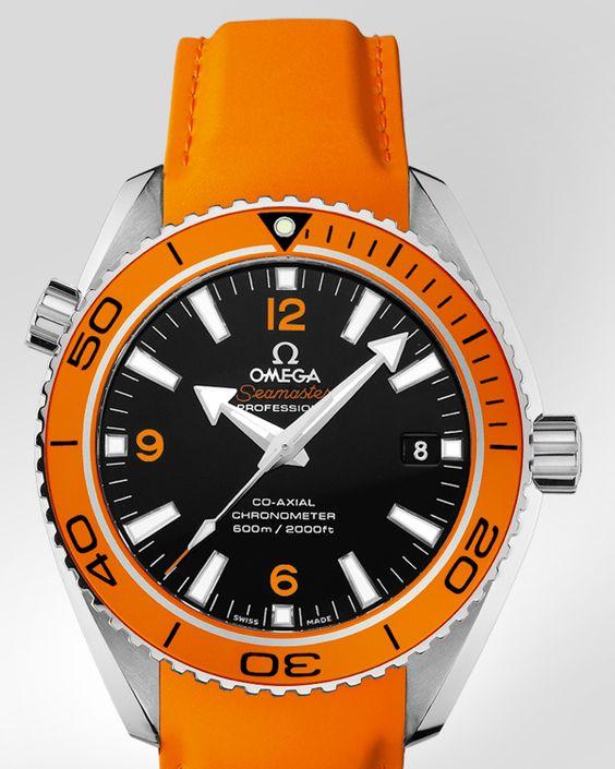 Omega Seamaster Orange Rubber Strap