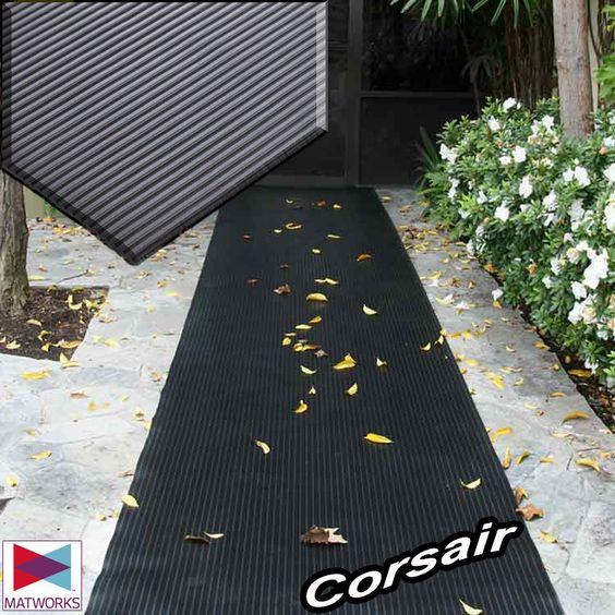 """Corsair"" Corsair is a flexible, lightweight option for reducing slips and falls. Corsair can be used on floors, entrances, as well as shelves."