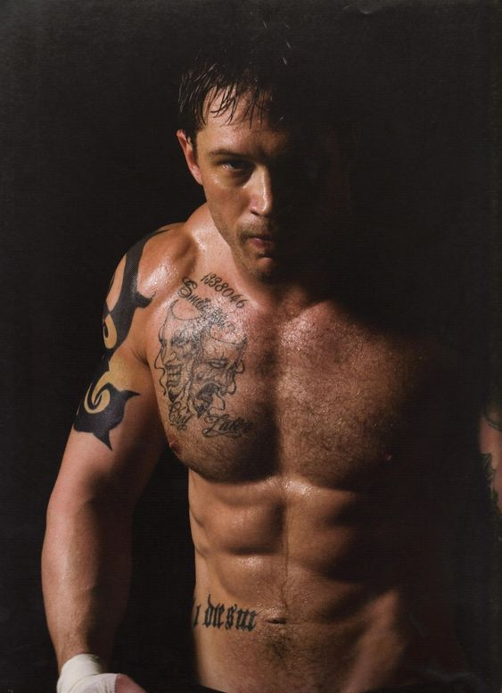 Tom Hardy.  Muscles!!: