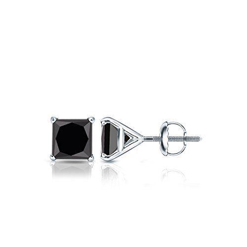 Pin On Black Diamond Earrings Princess Cut