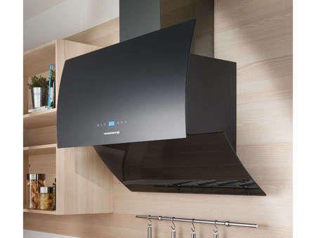 ROSIERES Hotte décorative 90 cm coloris noir ROSIERES RVSD 970 PN