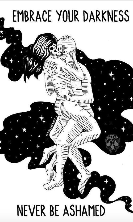 10 Illustrations Of Our Kinky Wicked Love by Darker Days.   Joshua Drew is an illustrator who works under the pseudonym Darker Days. The protagonists of his drawings are skeletons who feel love, desire, passion, and experience feelings of frustration.