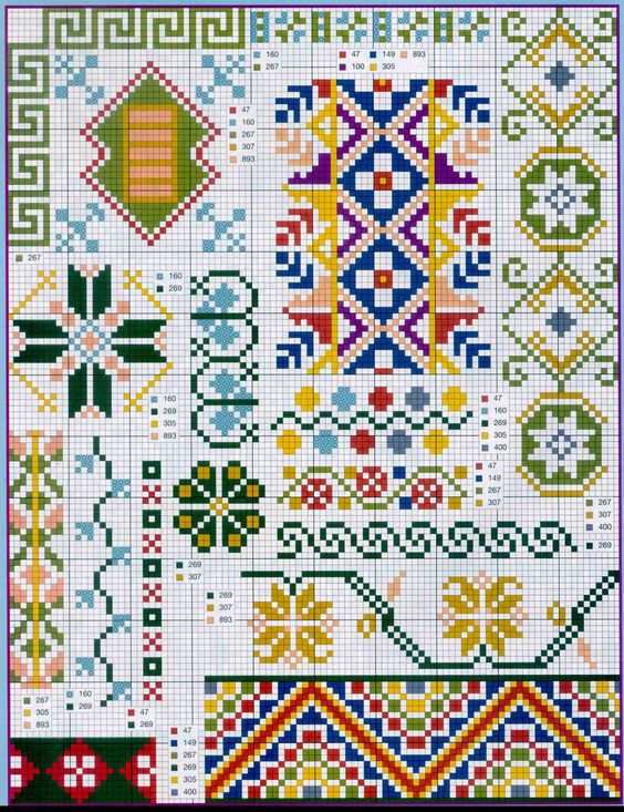 cross stitch christmas border patterns for quilting