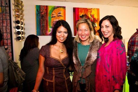 Two of my fav ladies in DC: Christina Sevilla and Rachel Cothran at ArtJamz.