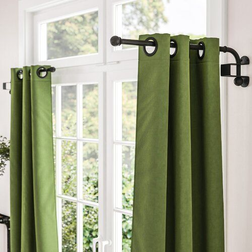 Hampstead Striped Semi Sheer Grommet Curtain In 2020 Curtain Rod Hardware Double Rod Curtains Curtain Rods