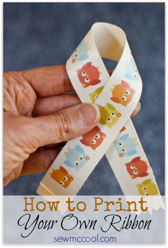 Learn how to print your own ribbon designs on sewmccool.com