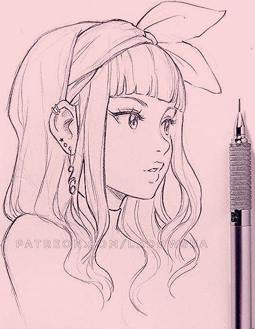 Zeichnungen Bleistift Zeichnungen Bleistift In 2020 Anime Drawings Sketches Girl Drawing Sketches Drawing Sketches