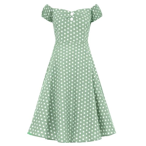 Kellomekko, Dolores Vintage Green - Blackgroup