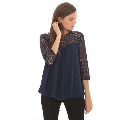 Pimkie.fr : Délicate et féminine, on aime les détails en macramé de la blouse fluide.