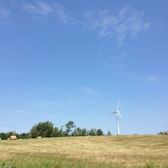 A turbine on the Chateaugay wind farm at the edge of the Adirondacks