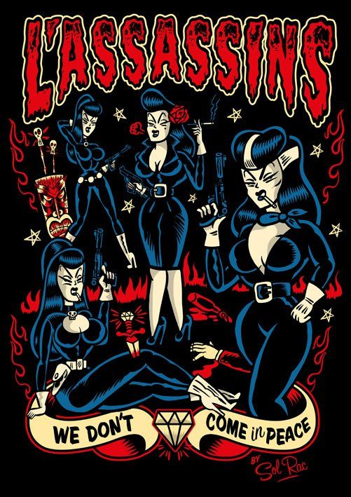 Psychobilly art! Love this style