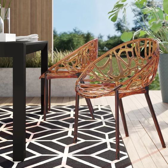 Mercury Row Metrocles Stacking Patio Dining Chair & Reviews   Wayfair