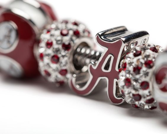 Perfect Valentine's Day gift for University of Alabama students, alumni and fans! Stone Armory | Alabama Crimson Tide Jewelry. Save 15% on this bracelet and receive a FREE rose charm through 2.14.16 | Enter: LOVE