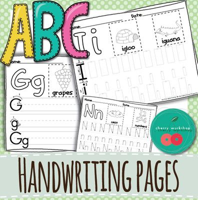 ABC Handwriting Practice Pages - Differentiated Letter Formation ...