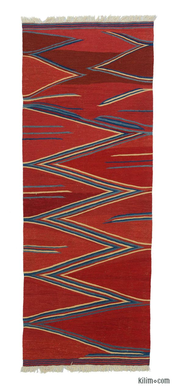 New Turkish Kilim Runner hand-woven with vegetable-dyed and hand-spun wool. The fringes can be removed upon request. If you like the design of this rug, we can custom make it to meet your color and size requirements.