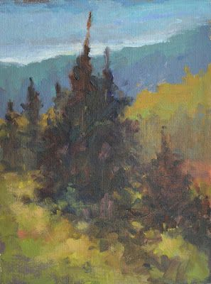 """Landscape Artists International: """"On a Mountain Hike"""" Original Oil Mountain Landscape Painting by Western Colorado Artist Barbara Churchley"""