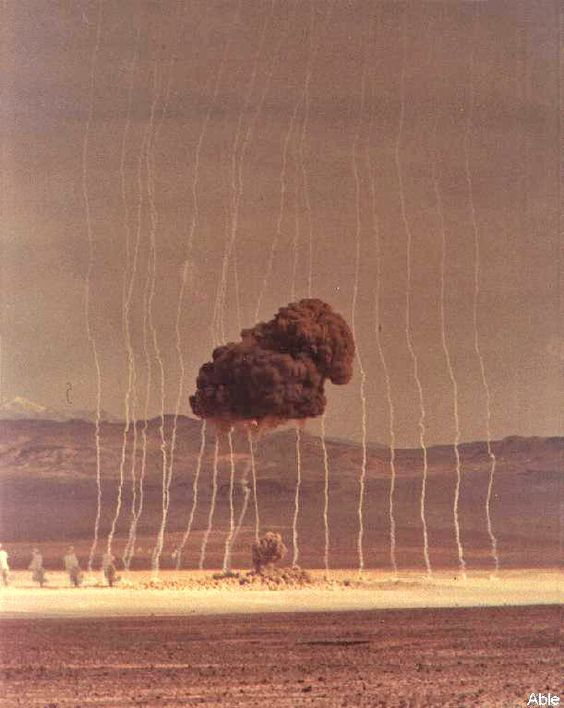 The first nuclear bomb was tested at the Nevada Test Site on January 27, 1951. The nuke shot was called  'Able' and it was the first air-dropped nuclear device to be exploded on American soil.