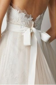 Lace & bows wedding dress