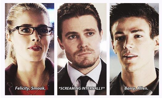 Arrow - Felicity, Oliver and Barry #Season2 #Olicity ...