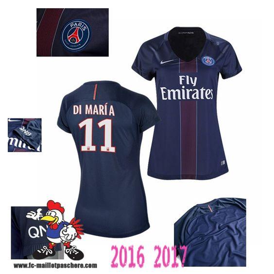 Vente Nouveau Maillot Football Paris Saint-Germain Bleu Femme (DI MARIA 11)…