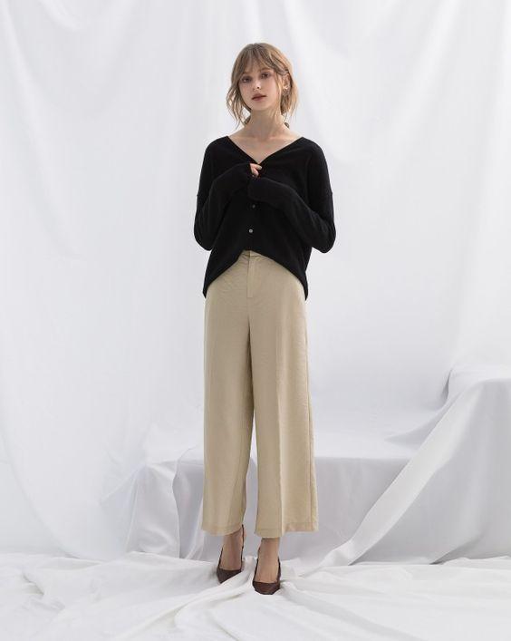 極簡百搭V領薄針織外套|女裝|MEIER.Q