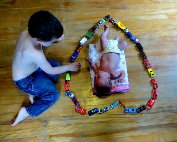Toys For Siblings : Sibling picture big brother and little sister baby girl