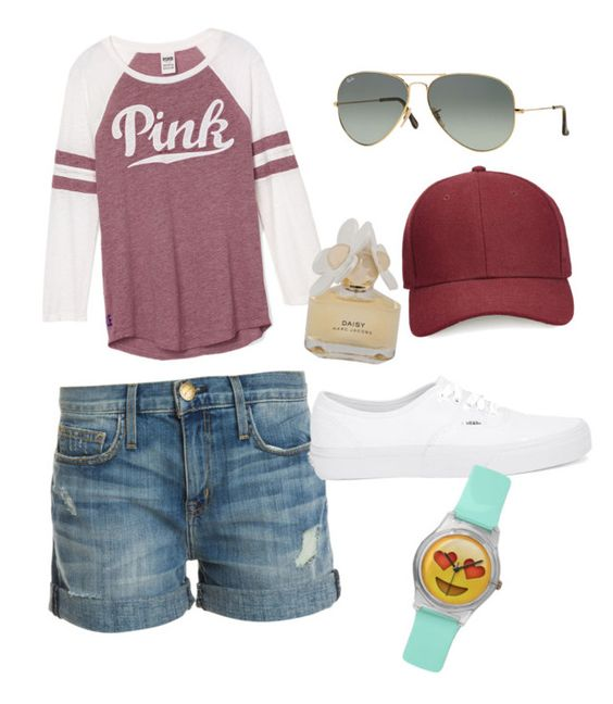 """""""Untitled #7"""" by jasive-asseff-jamous on Polyvore featuring Current/Elliott, Ray-Ban, Whistles, Vans and Marc by Marc Jacobs"""