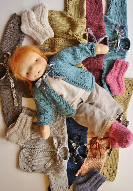 Knitting Patterns For Waldorf Dolls : Sock, Sweaters and Waldorf dolls on Pinterest