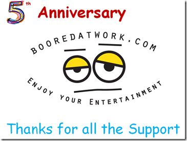 5th anniversary of Booredatwork.com with Giveaways