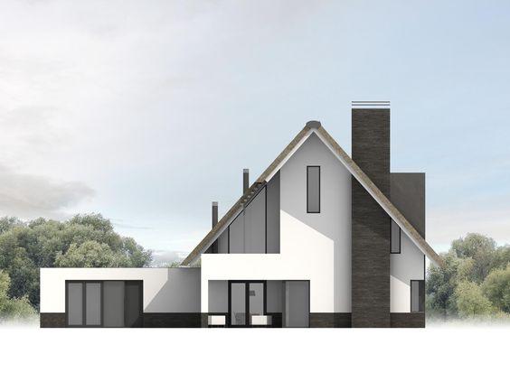Maas architecten woonhuis apeldoorn idee n voor het huis pinterest met - Gevel eigentijds huis ...