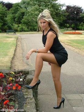 sexy teen in stiletto model