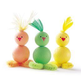 Bead Duck Children's Craft-family fun long ago.