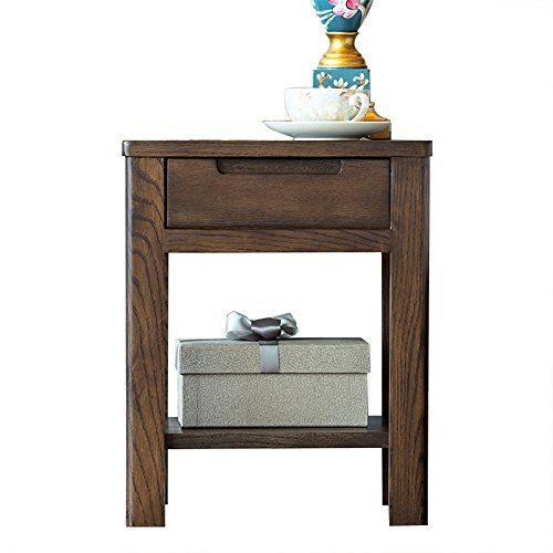 Xue Bedside Table Pure Solid Wood Bedside Table White Oak Drawer