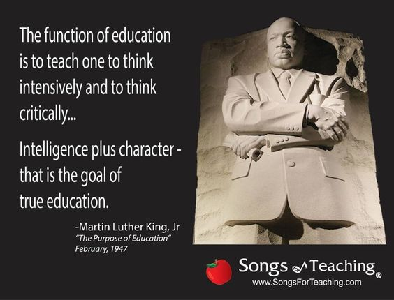 The function of education is to teach one to think ...