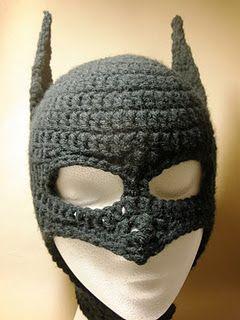Crochet Batman mask/hat.